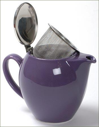 22-oz. Bee House Teapot - Eggplant